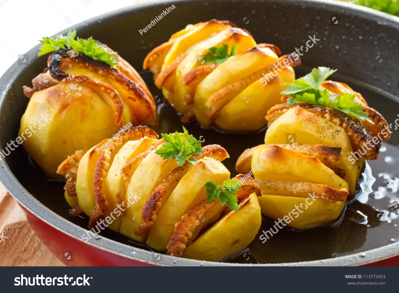 Картофель с беконом в духовке рецепт картофель с беконом