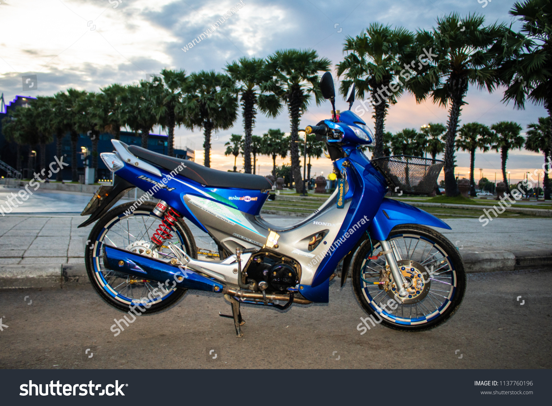 Buriram thailand july 13 2018 private honda wave 125r motorcycle in buriram