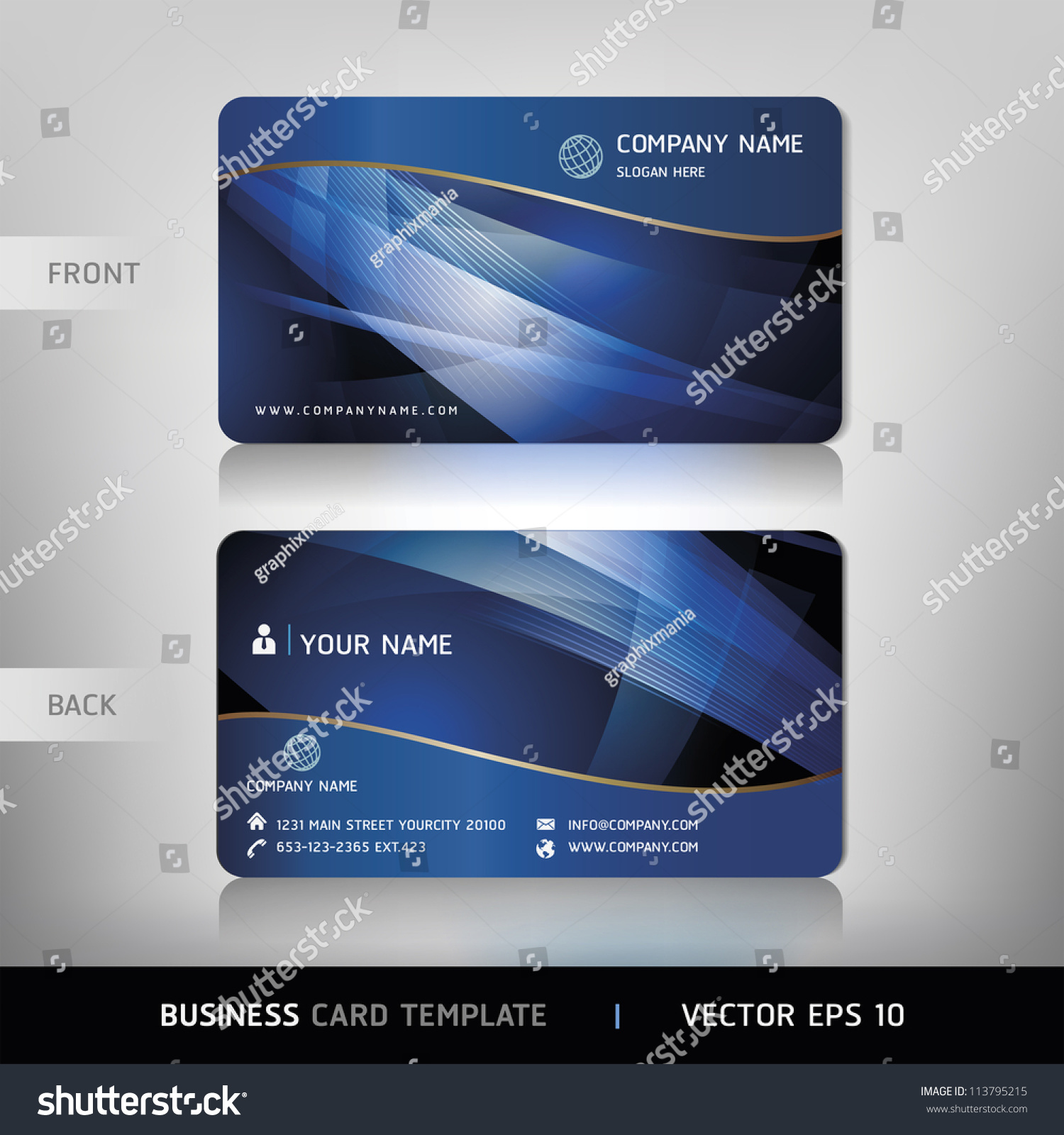 business card set vector illustration stock vector