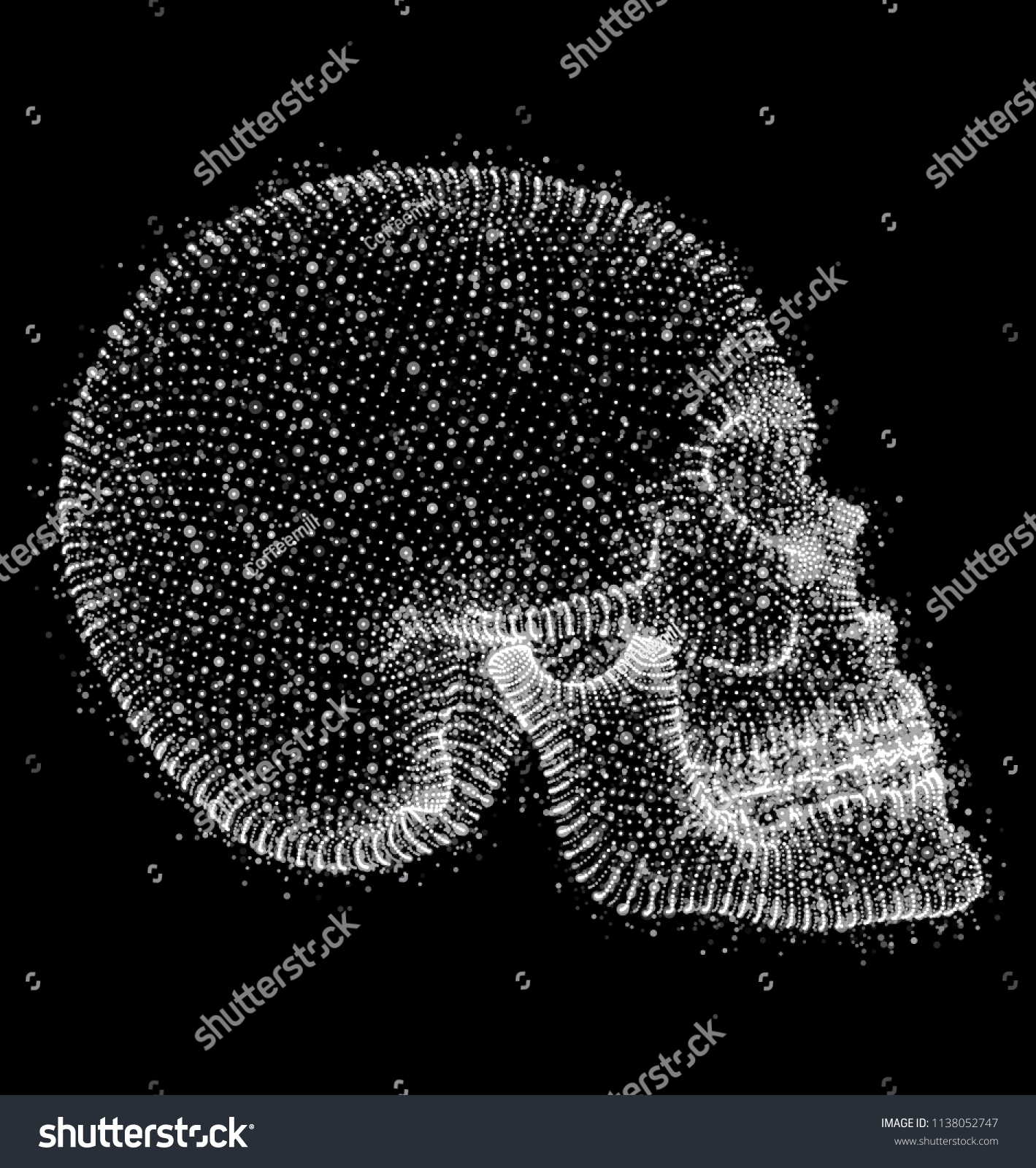 Vector Human Skull On Color Background Stock Vector Royalty Free