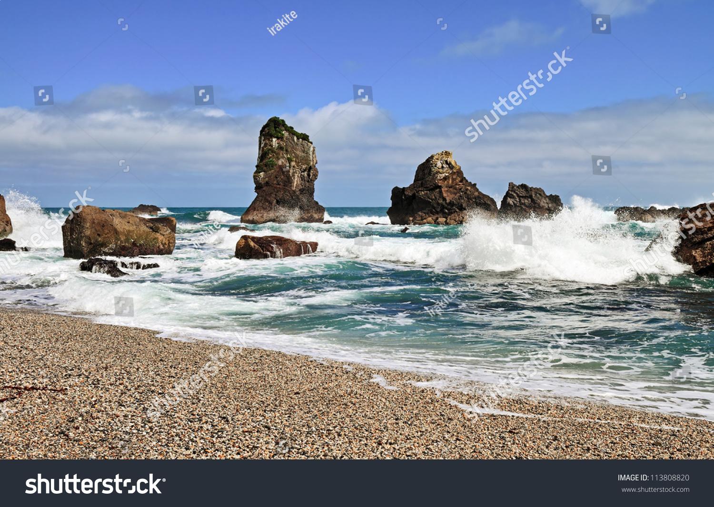 Coastal Landscapes West Coast Monro Beach Stock Photo 113808820 ...