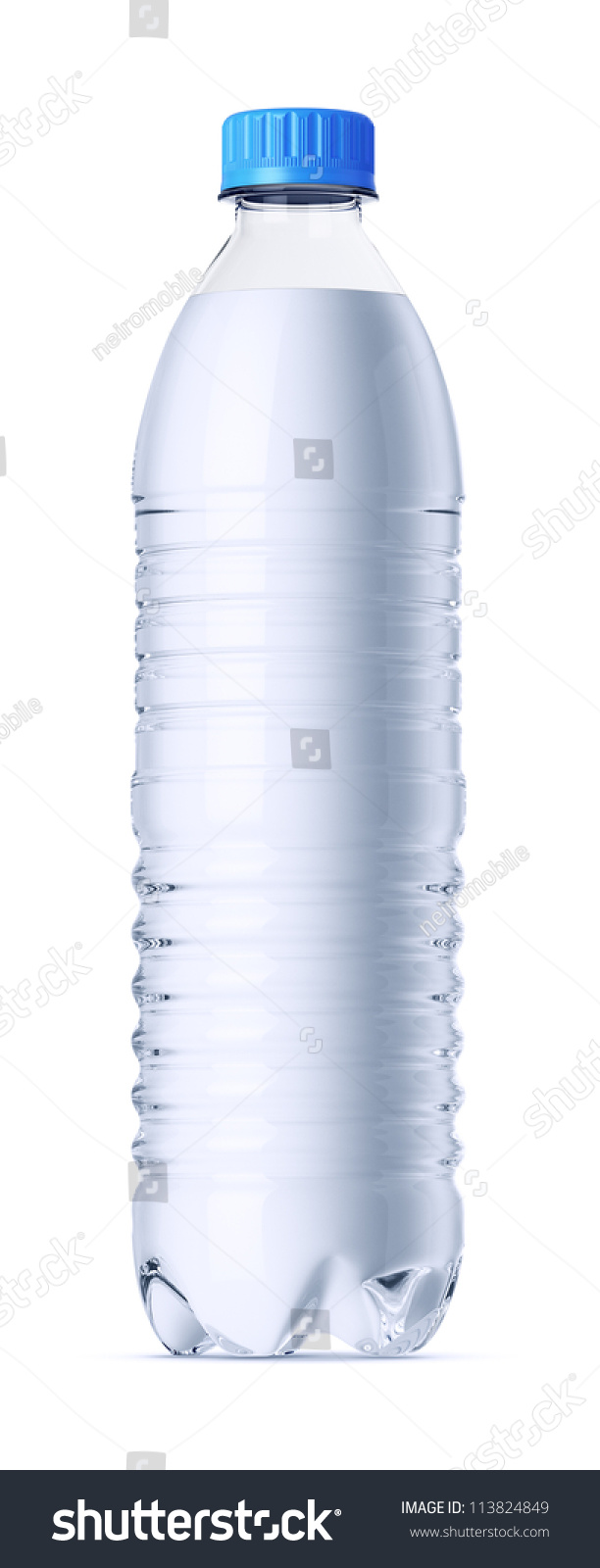 0.6 Liter Plastic Bottle Of Water Without Label. Isolated On White ...