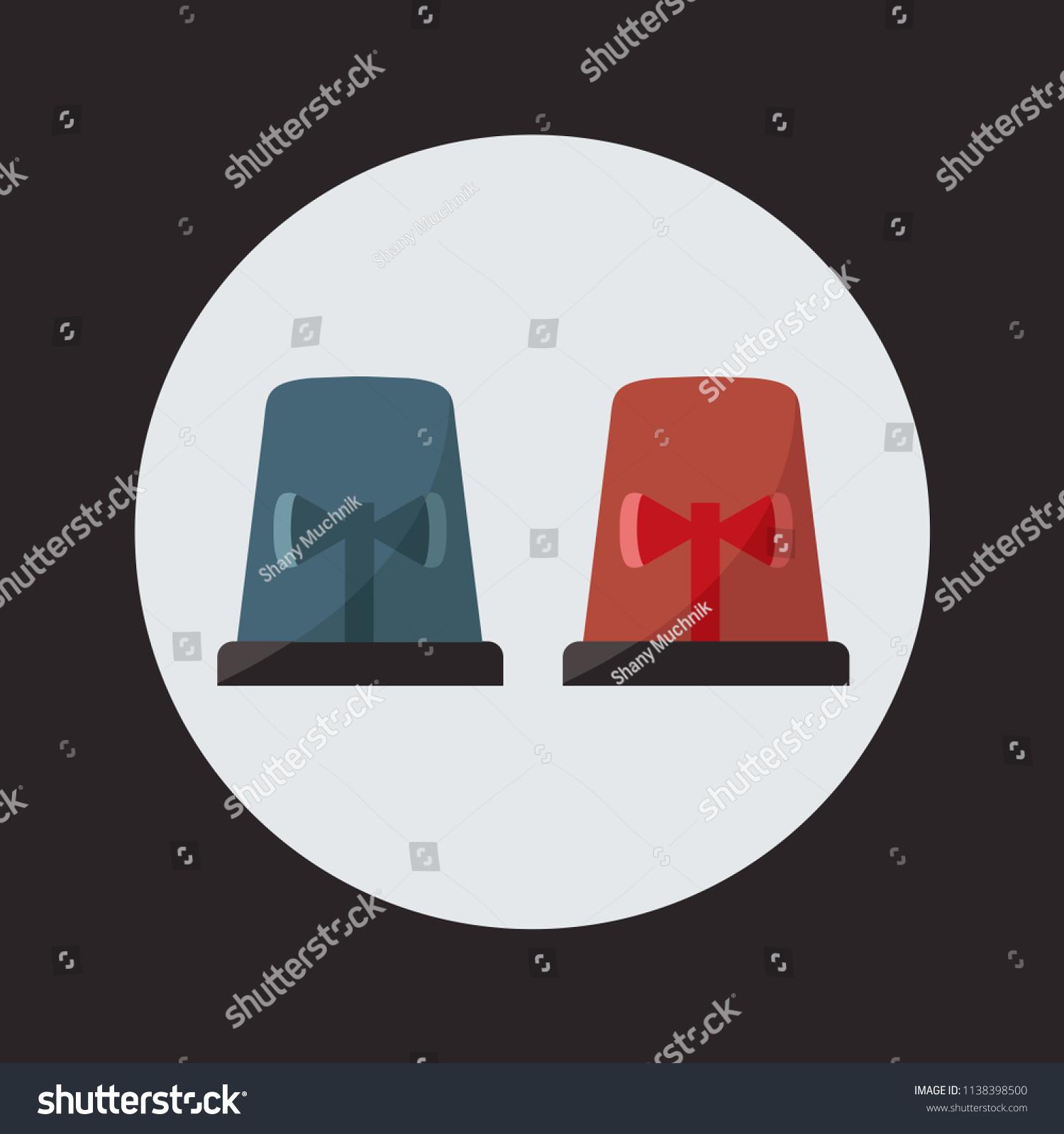 Red Blue Flashing Light Cartoon Police Stock Vector Royalty Free