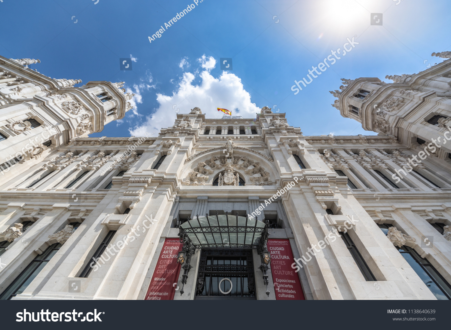 View Cibeles Palace Palacio De Cibeles Stock Photo Edit Now