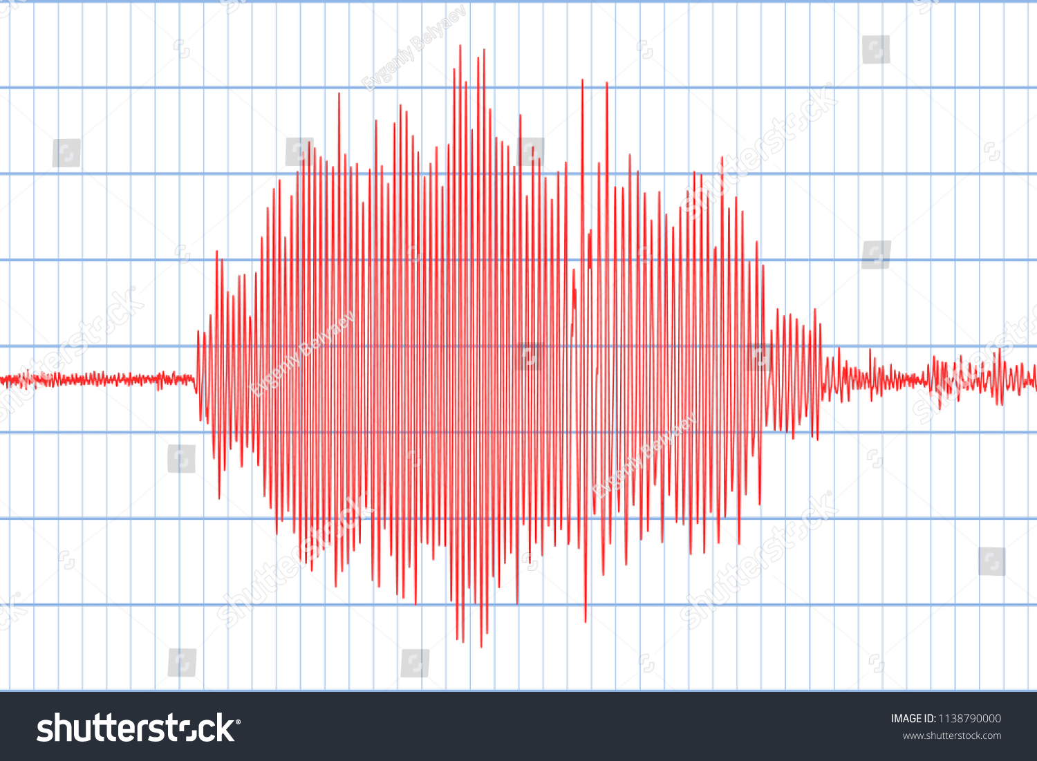 Seismograph Earthquake Seismic Activity Lie Detector Stock Vector Circuit And Audio Wave Diagram Illustration