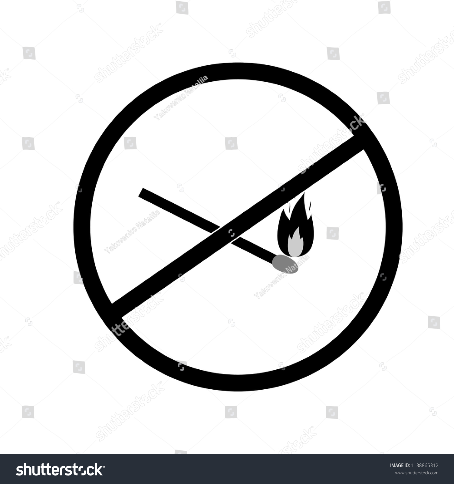 Do Not Kindle Fire Black Sign Stock Vector 1138865312 Shutterstock