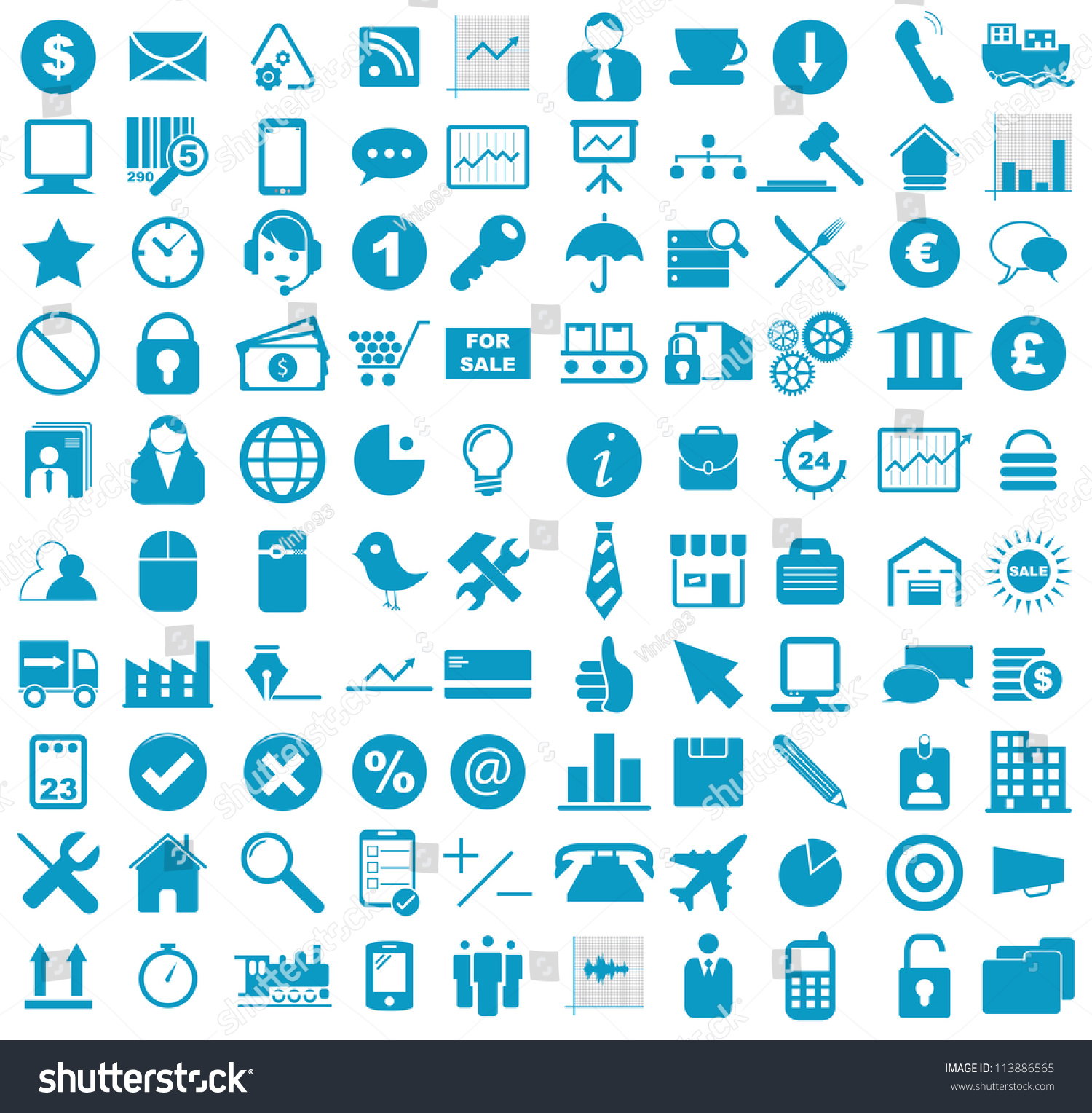 vector illustration blue business media stock