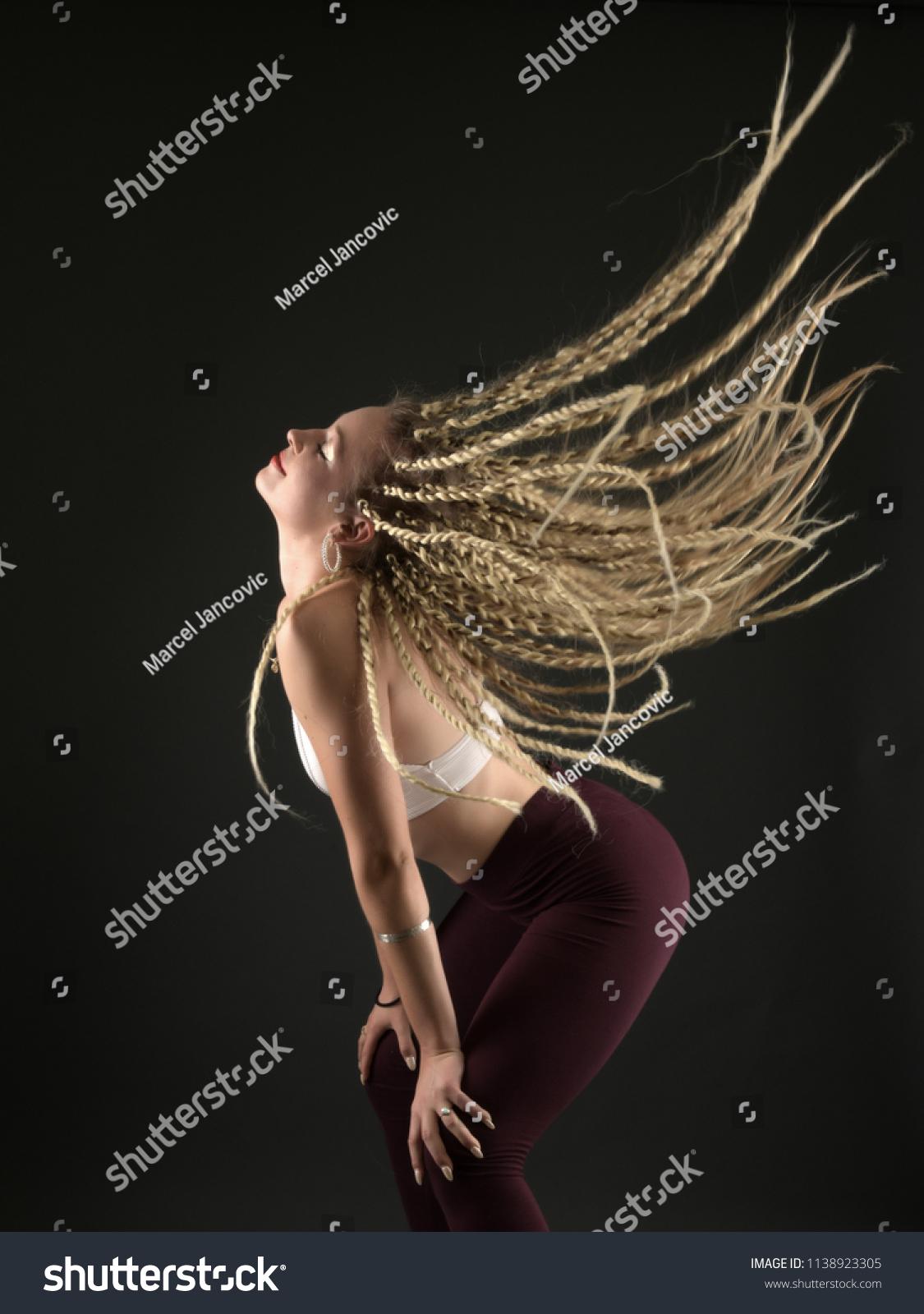 Beautiful Woman Braids Hairstyle Dancehall Dancer Stock Photo Edit Now 1138923305
