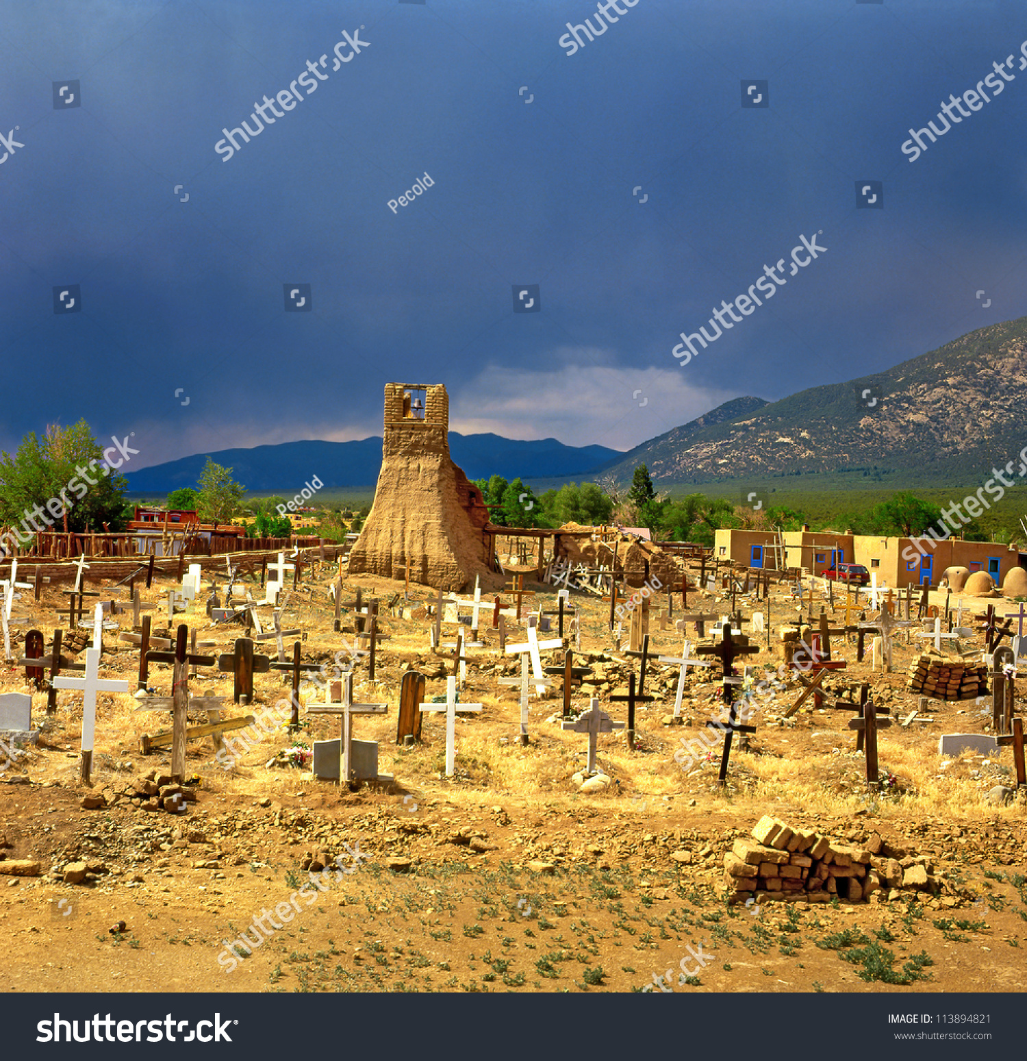Historic taos pueblo old cemetery this is the oldest Oldest city in the world