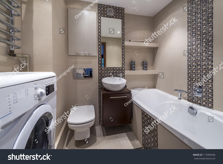 Luxury Modern Bathroom Suite Bath Washing Stock Photo 113900506 Shutterstock