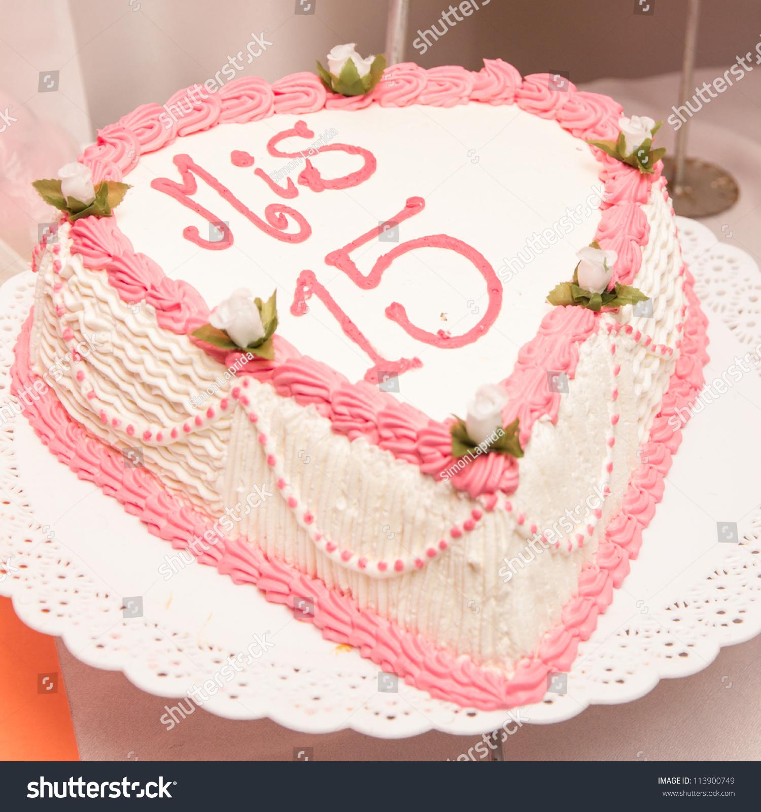15th Birthday Cake Stock Photo Edit Now 113900749 Shutterstock