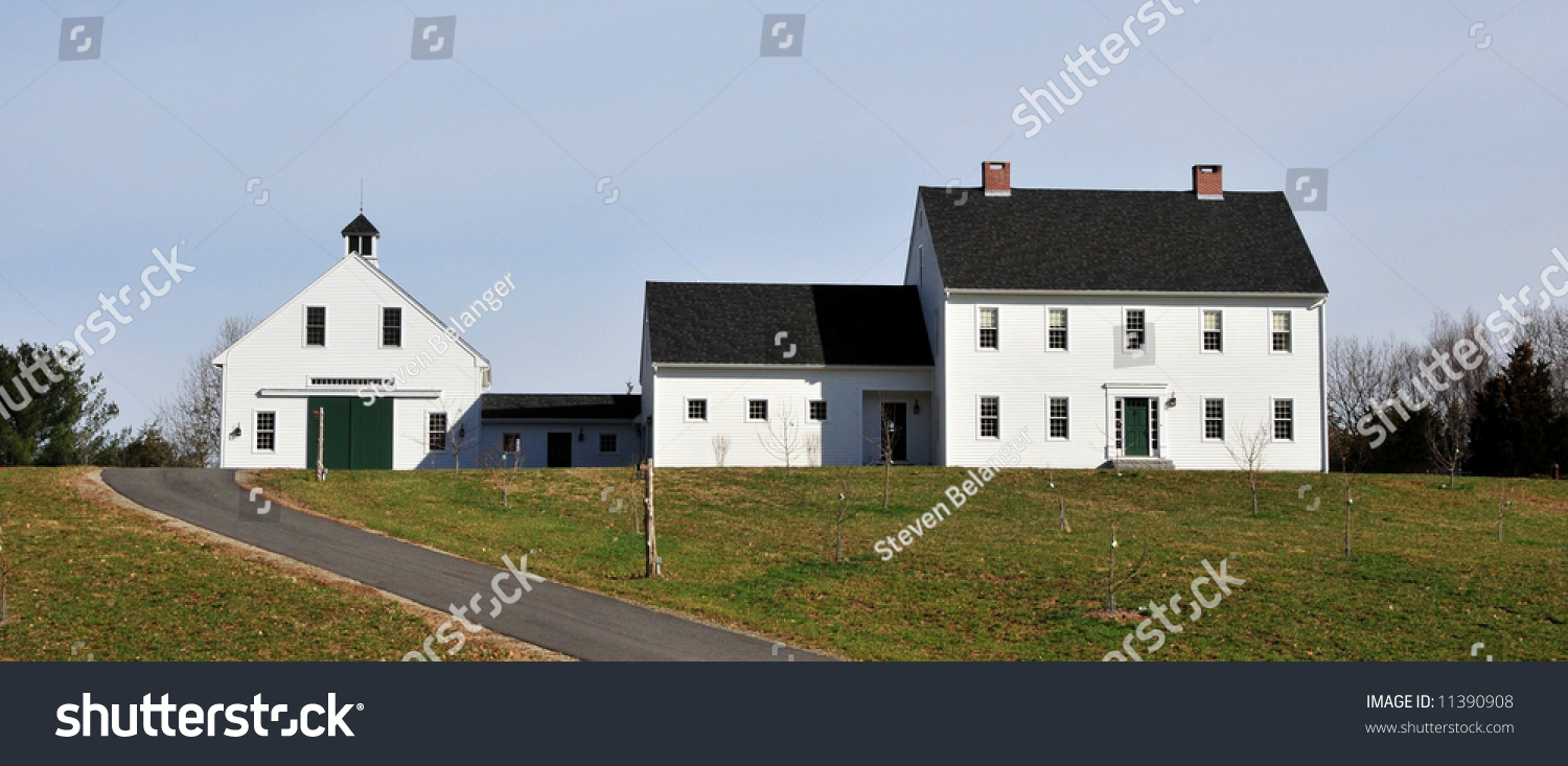New construction farmhouse stock photo 11390908 shutterstock for New construction farmhouse