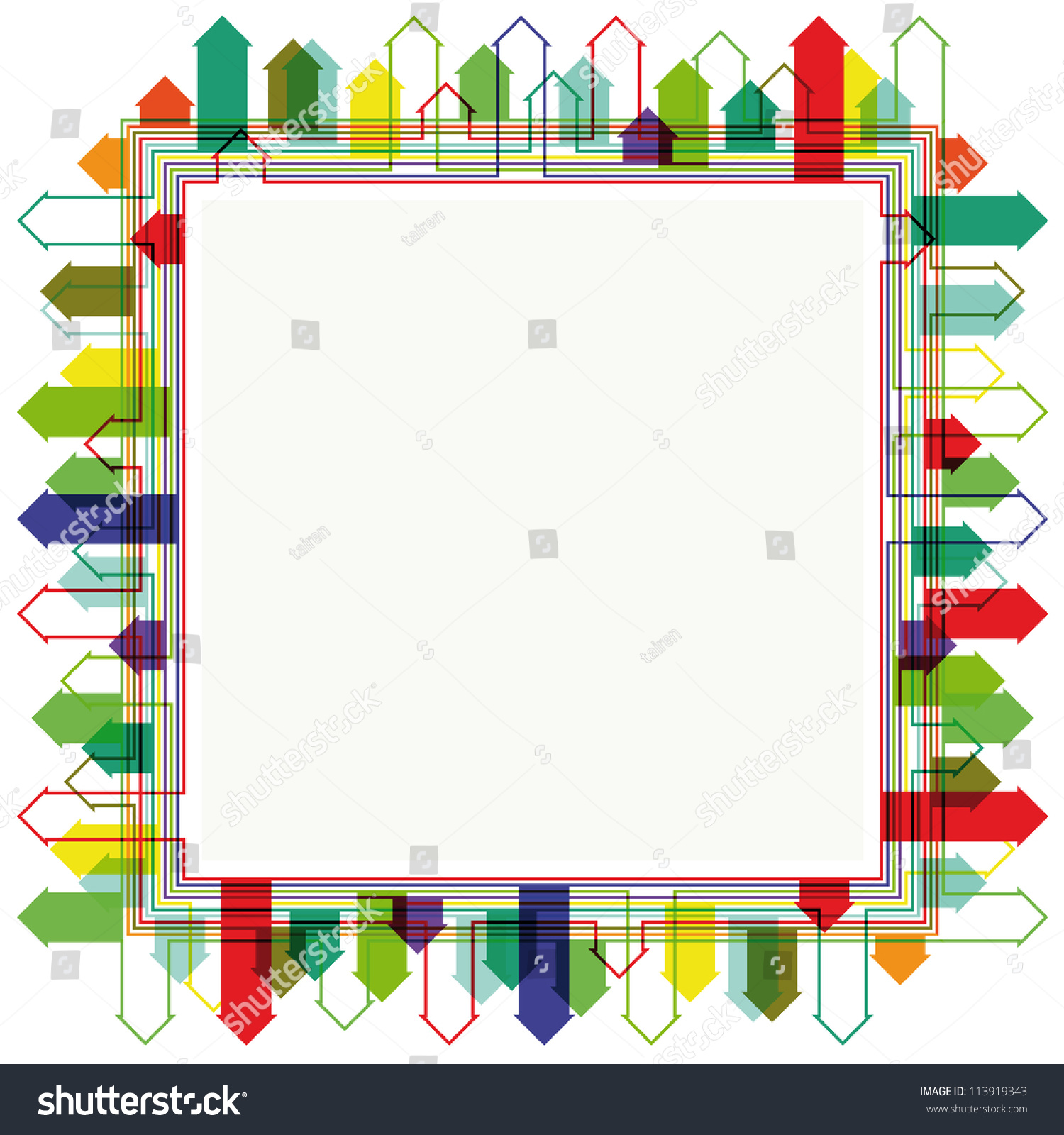 Abstract Bright City Silhouette Frame Design Stock Vector 113919343 ...