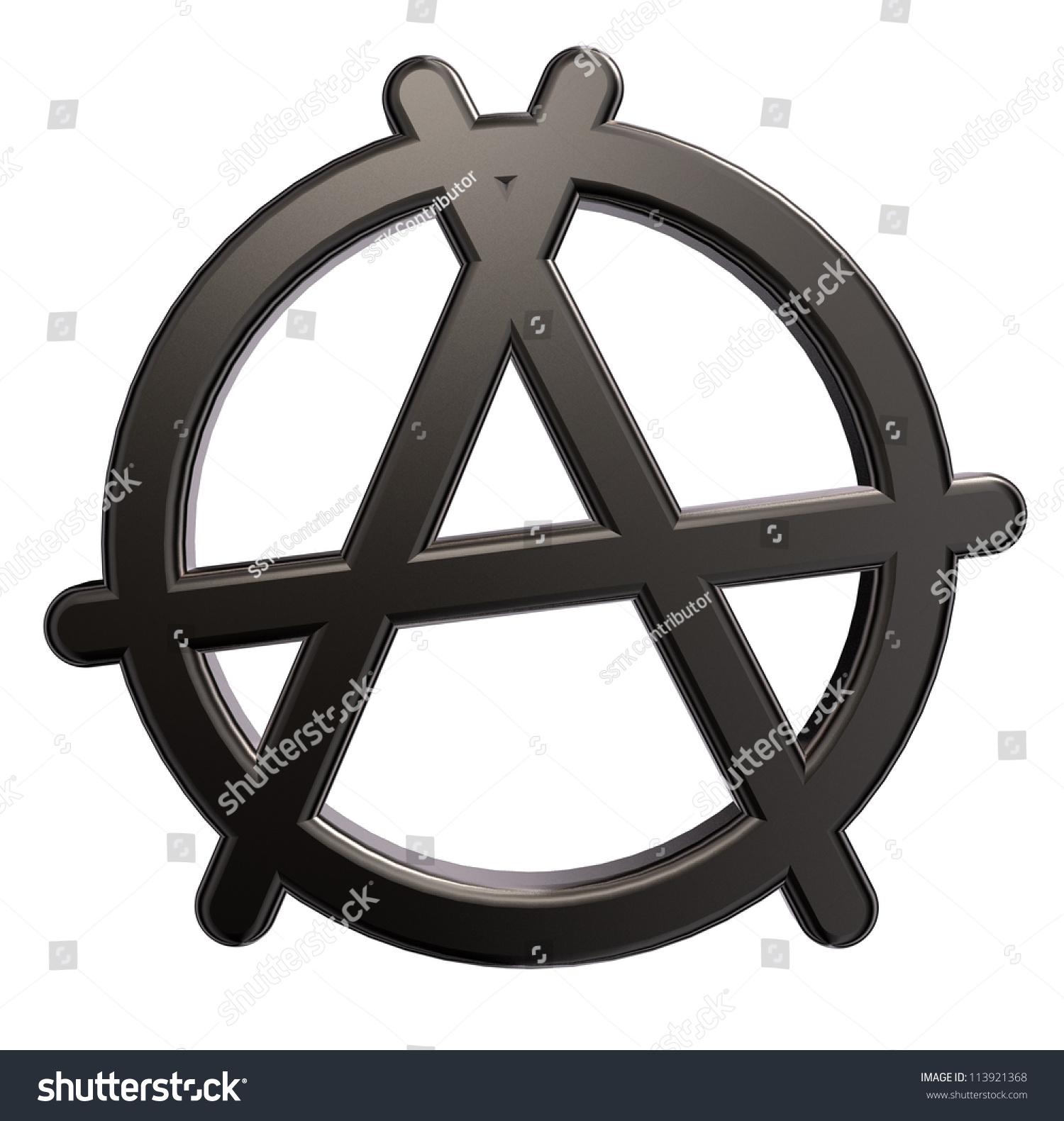 Metal Anarchy Symbol On White Background Stock Illustration