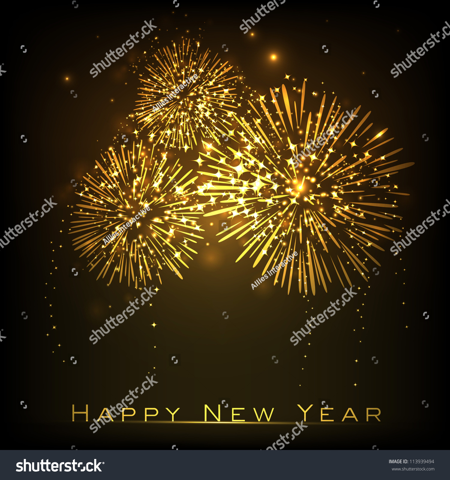 Tomb Rider Wallpaper: Happy New Year Celebration Background Eps Stock Vector