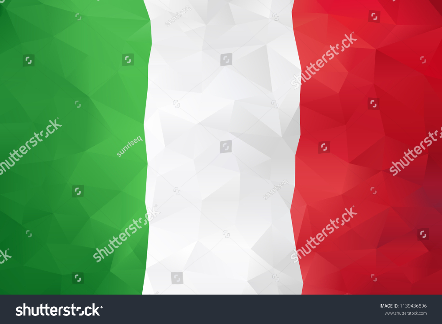 Italy Country Green White Red Flag Stock Vector Royalty Free