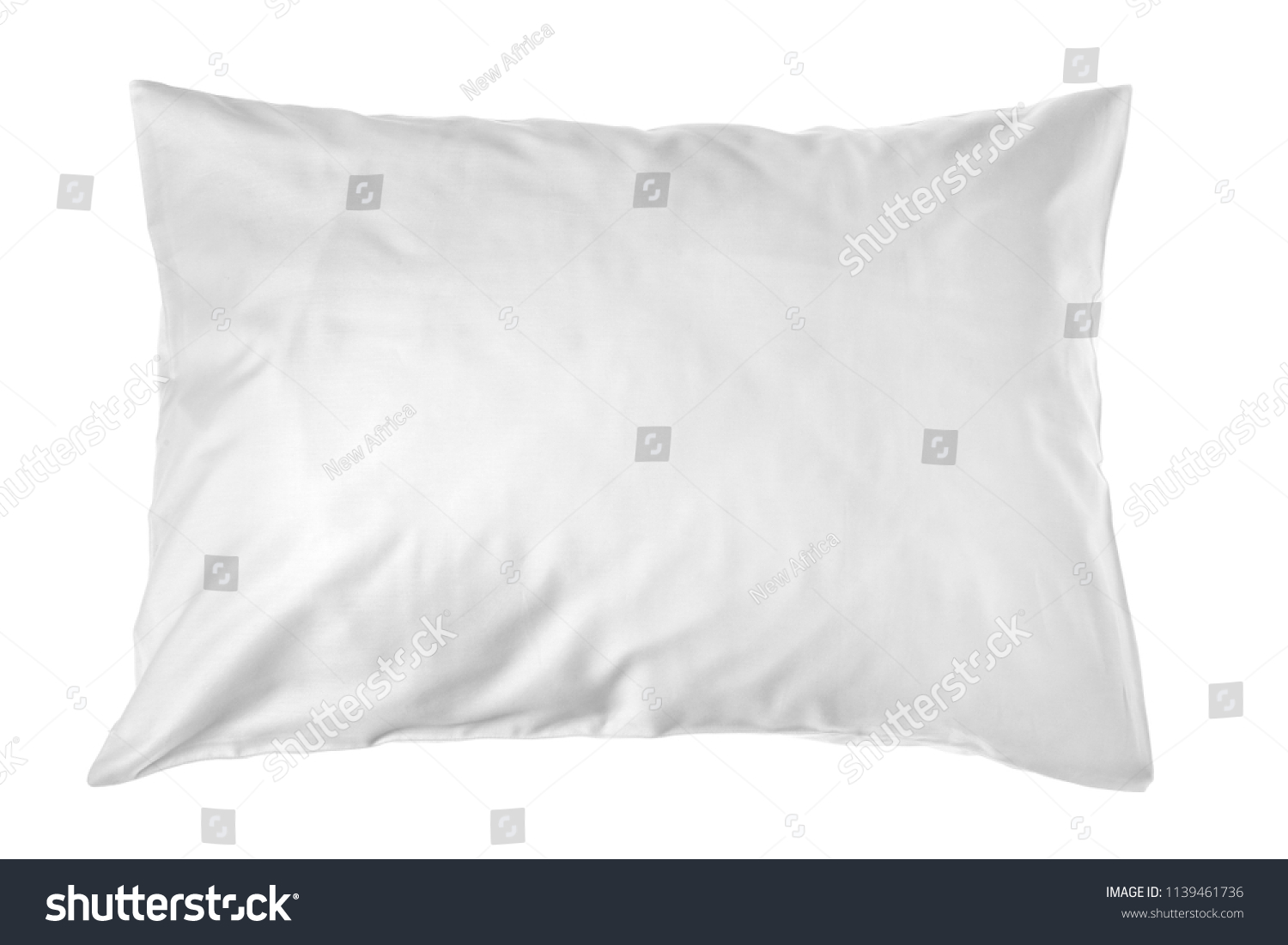 Blank soft pillow on white background