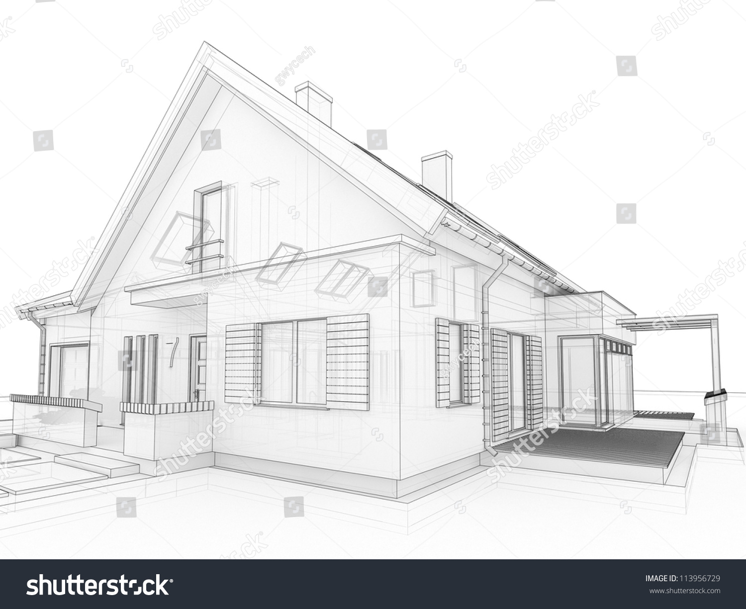 Home Design Drawing Modern House