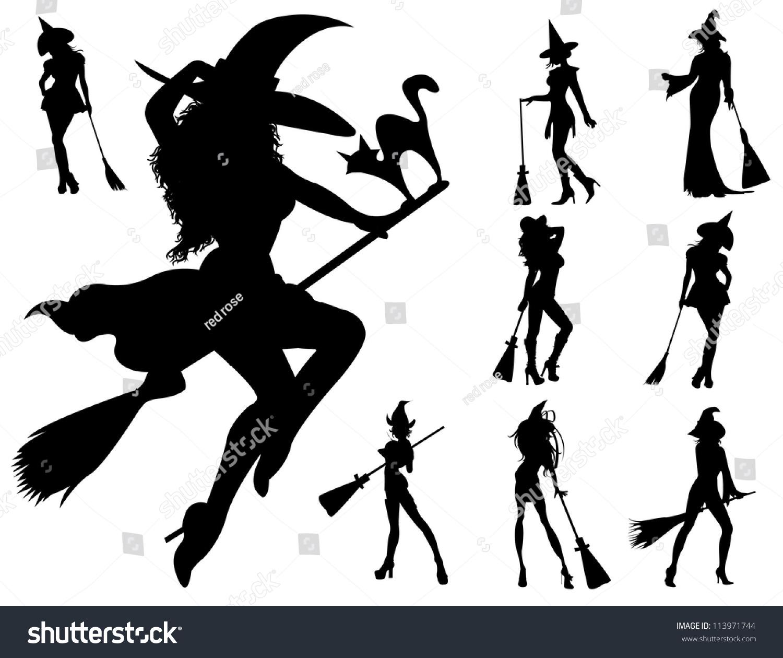 Halloween Witch Stock Vector 113971744 - Shutterstock