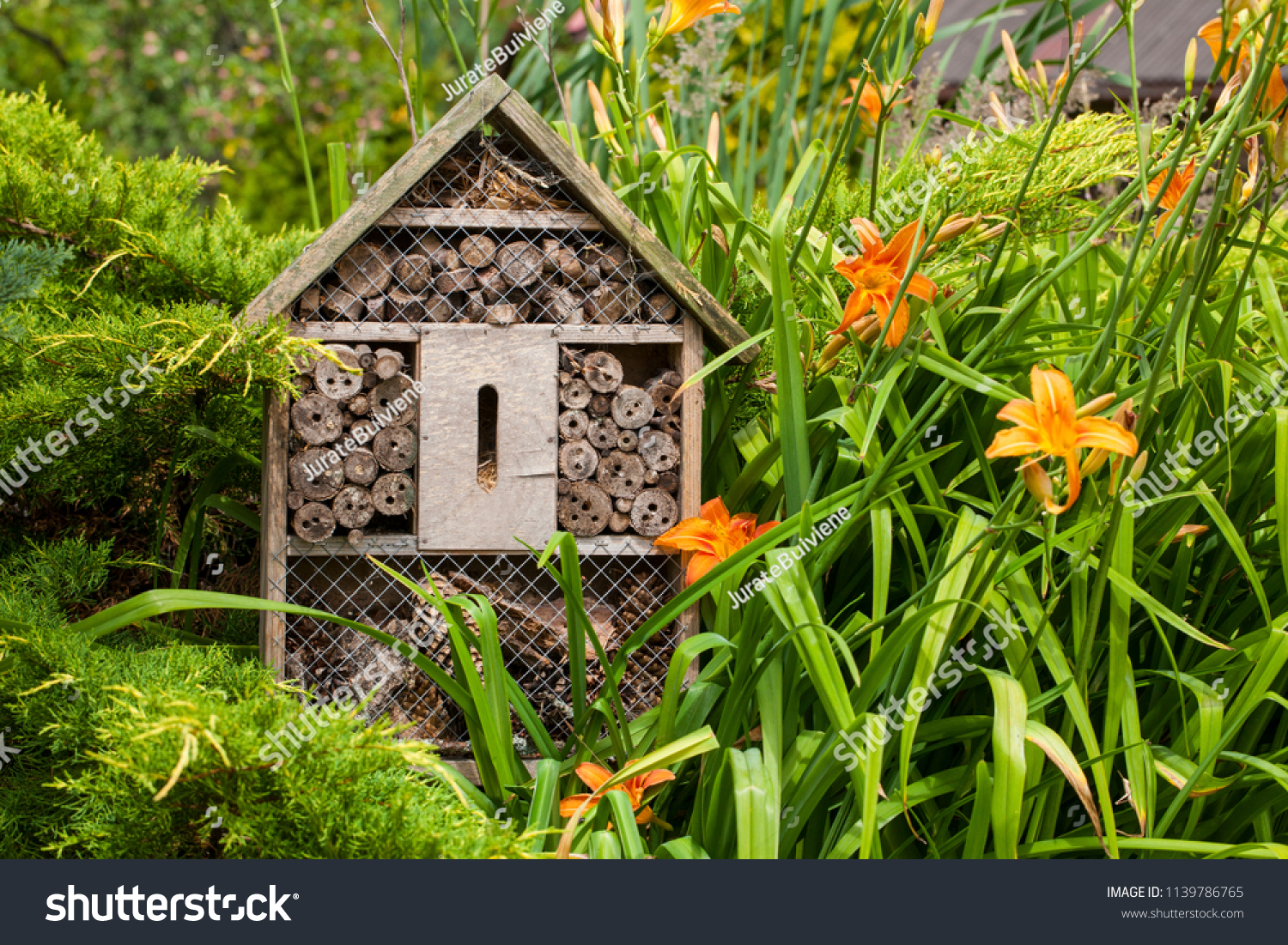 Insect house - hotel in a summer garden #1139786765