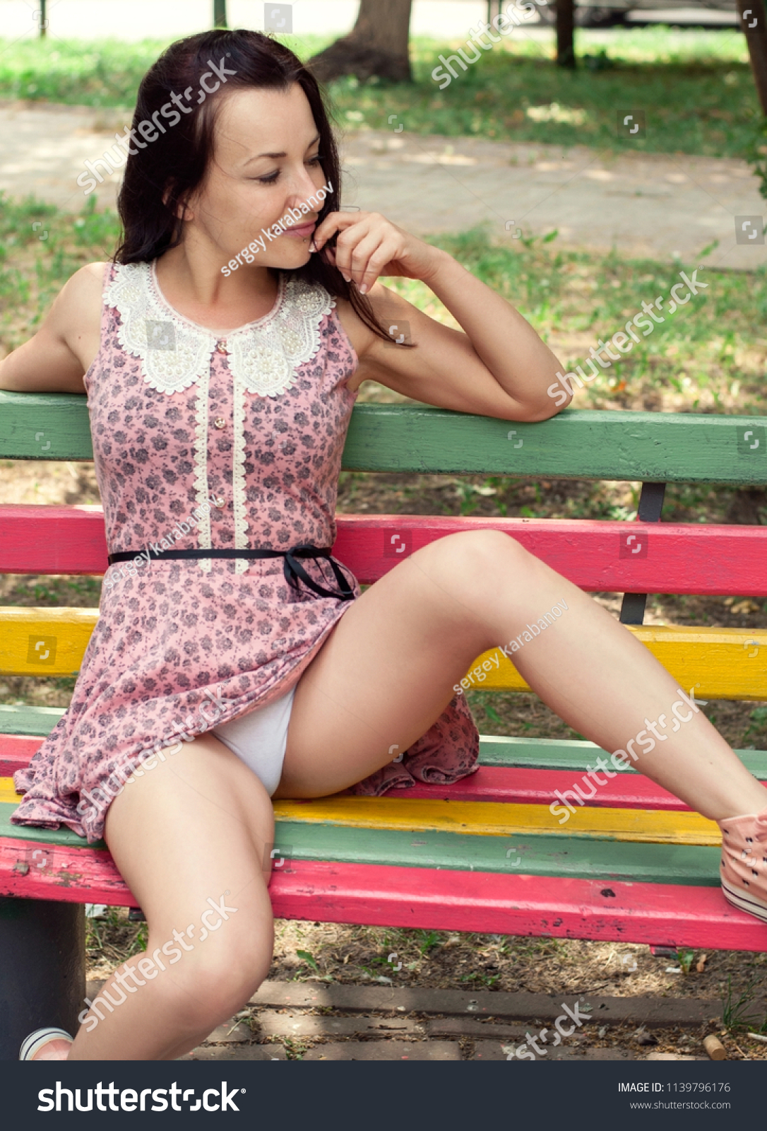 Legs Dress Panties Gif