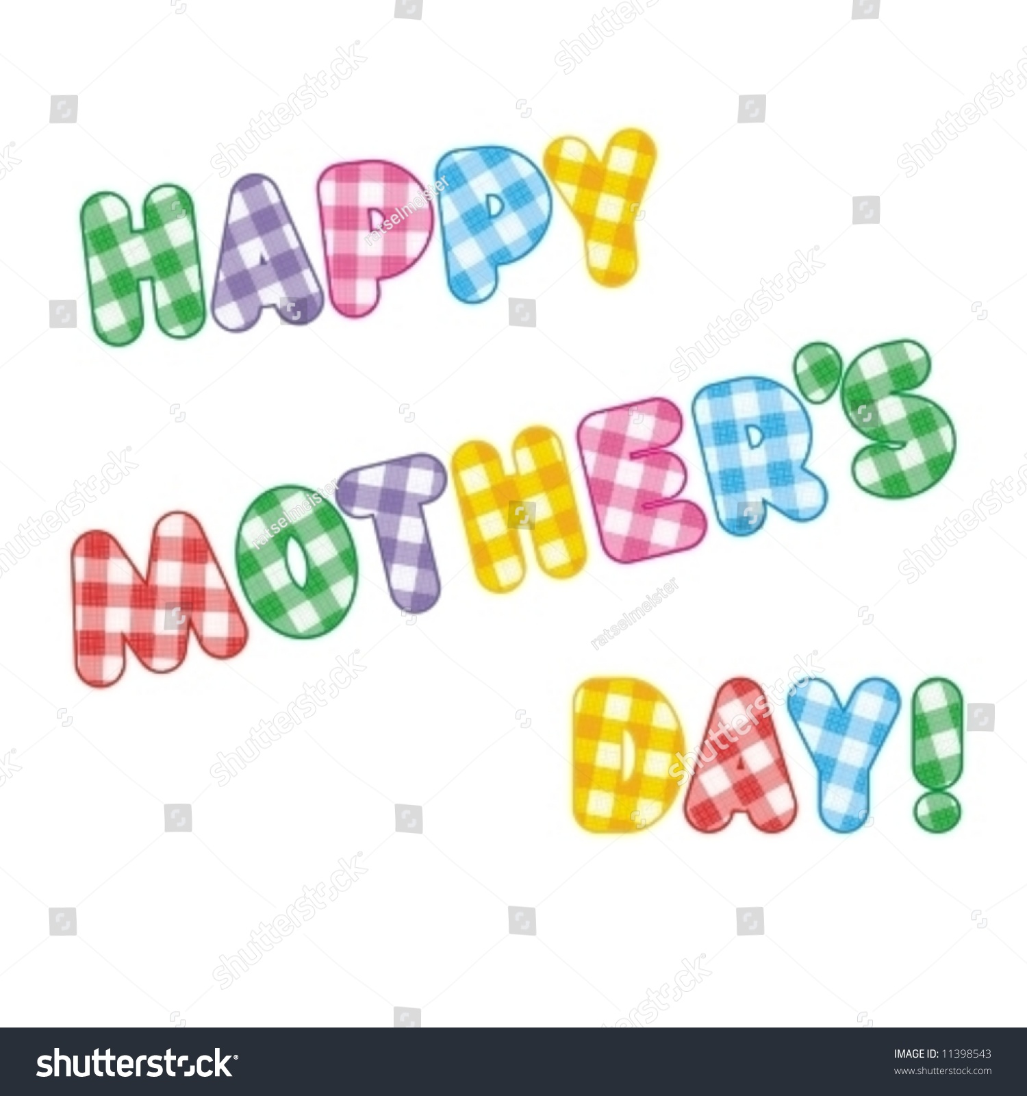 Happy Mothers Day Greeting Message High Stock Vector Royalty Free