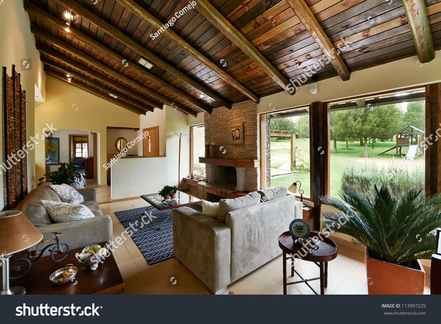Interior design series classic rustic living stock photo for Interior design living room rustic