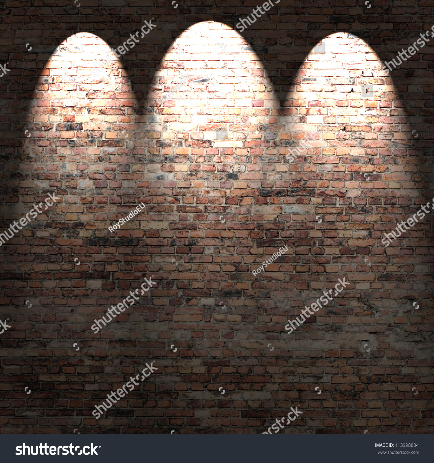 Red Brick Wall Background Texture Loft Apartment Or Basement With Spot Lights Stock Photo ...