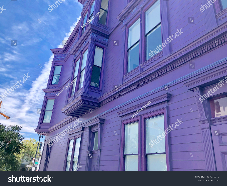 Purple Painted Victorian Edwardian Exterior Building Stock Photo Edit Now 1139989010
