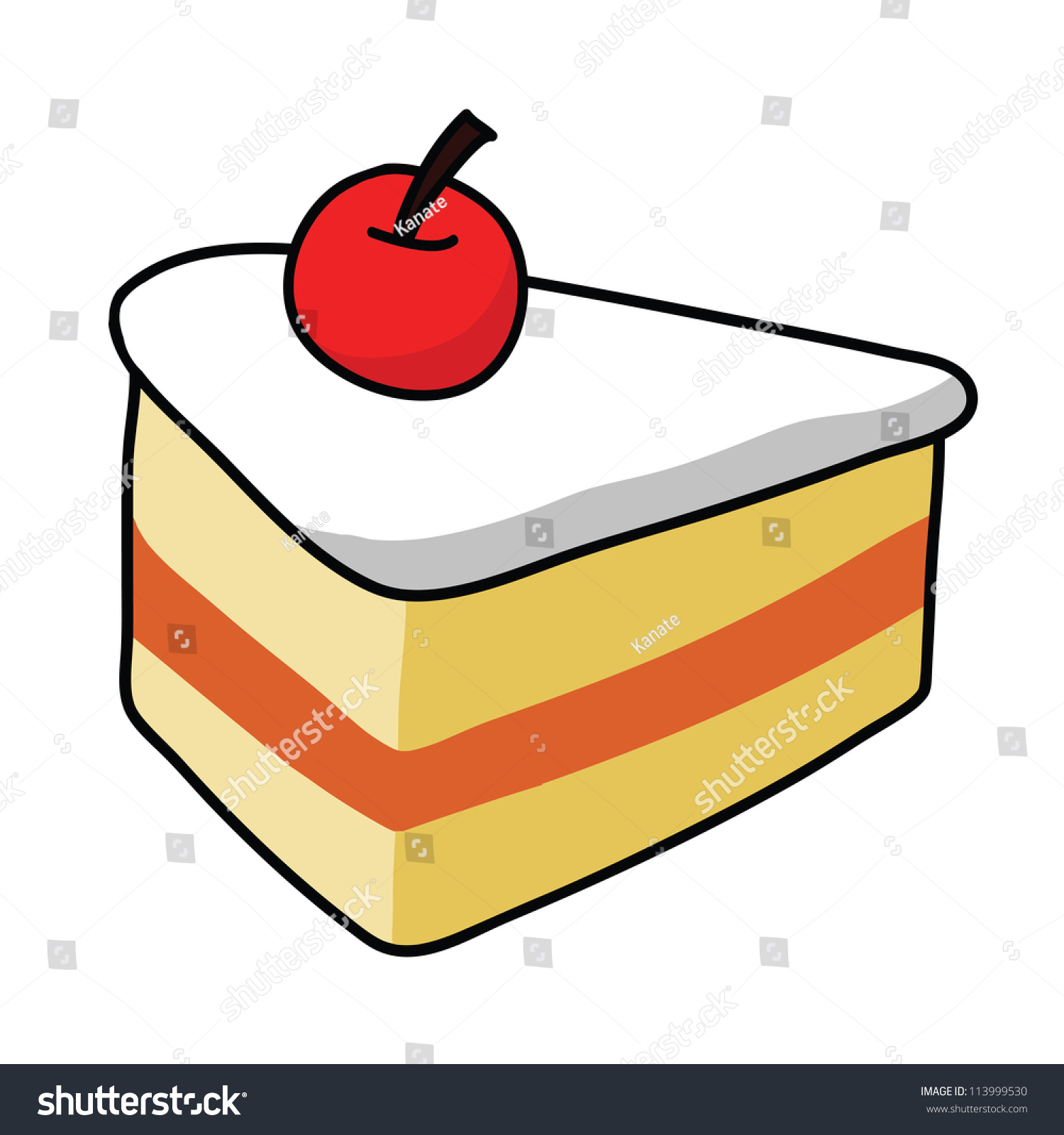 Cartoon Cake Stock Vector 113999530 - Shutterstock