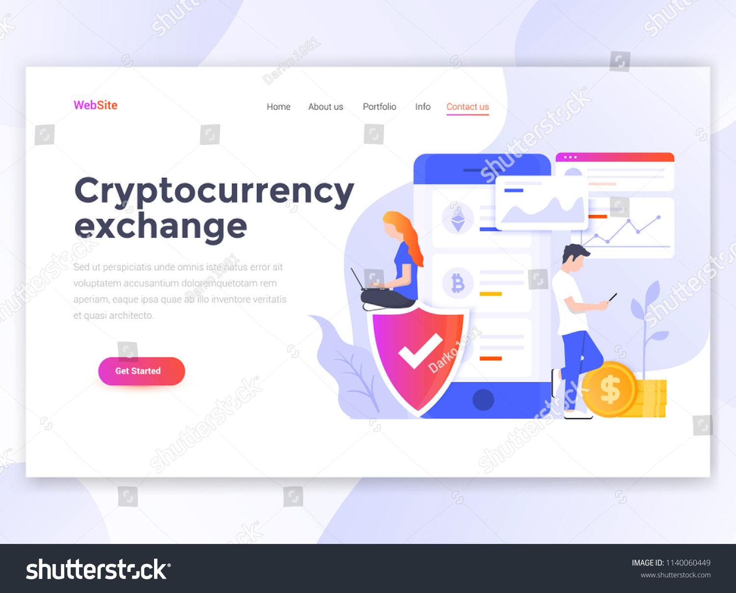 template for cryptocurrency exchange