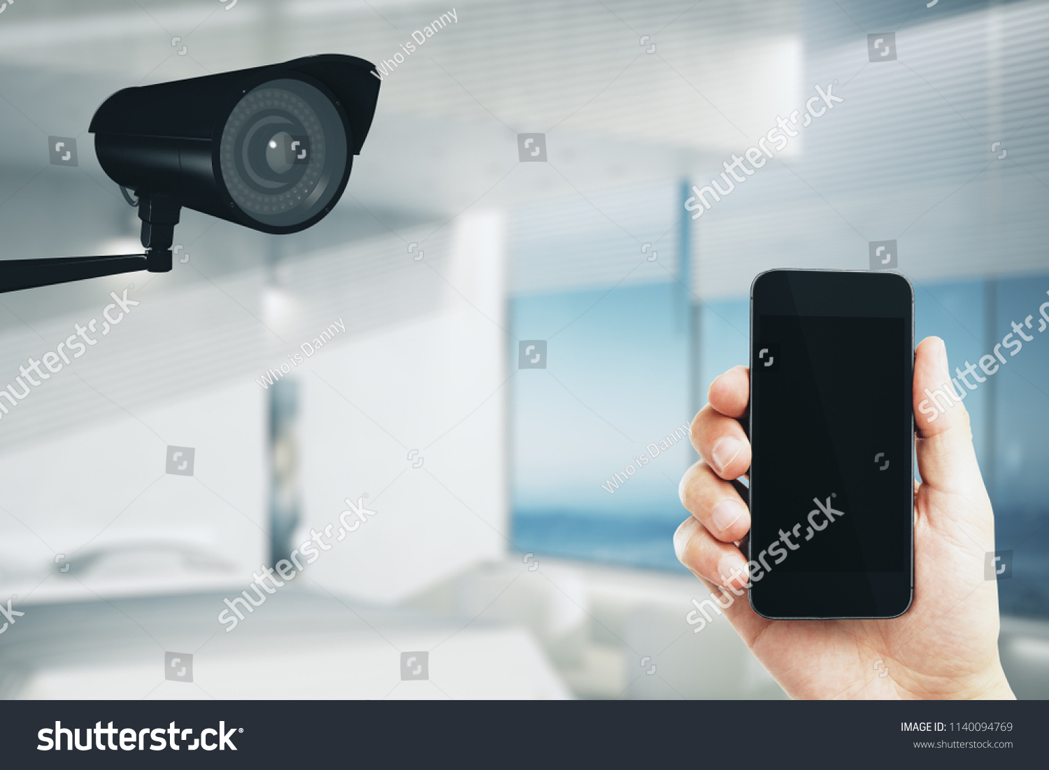 Online Security Control Concept Cctv Camera Stock Photo
