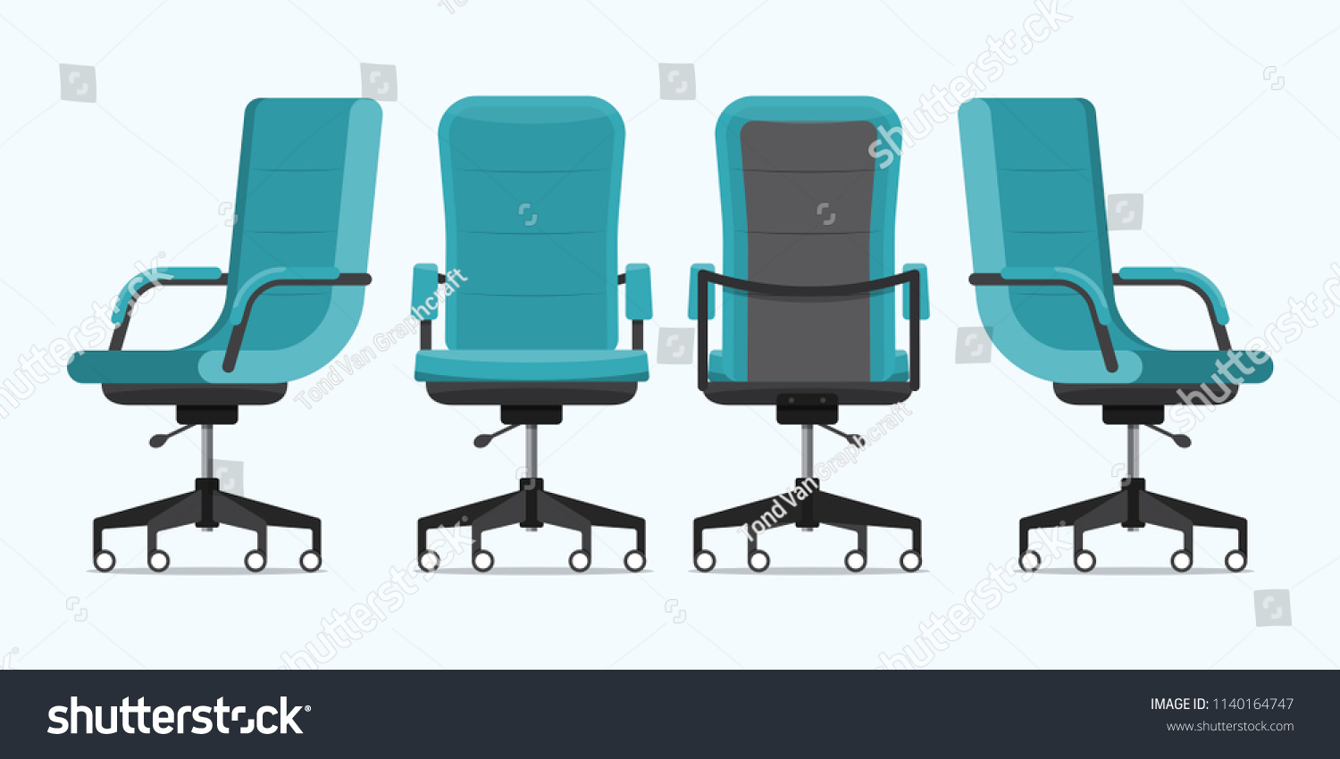 Image of: Office Chair Desk Chair Various Points Stock Vector Royalty Free 1140164747