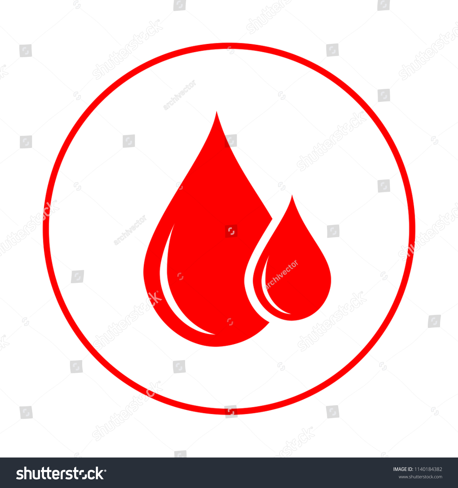 Donor Blood Icon Symbol Red Blood Stock Vector 1140184382 Shutterstock