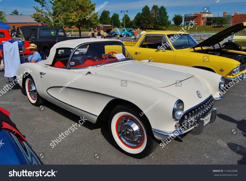 Frederick Md September 16 1961 White Chevrolet Corvette On Sept 16 2012 In Frederick Md