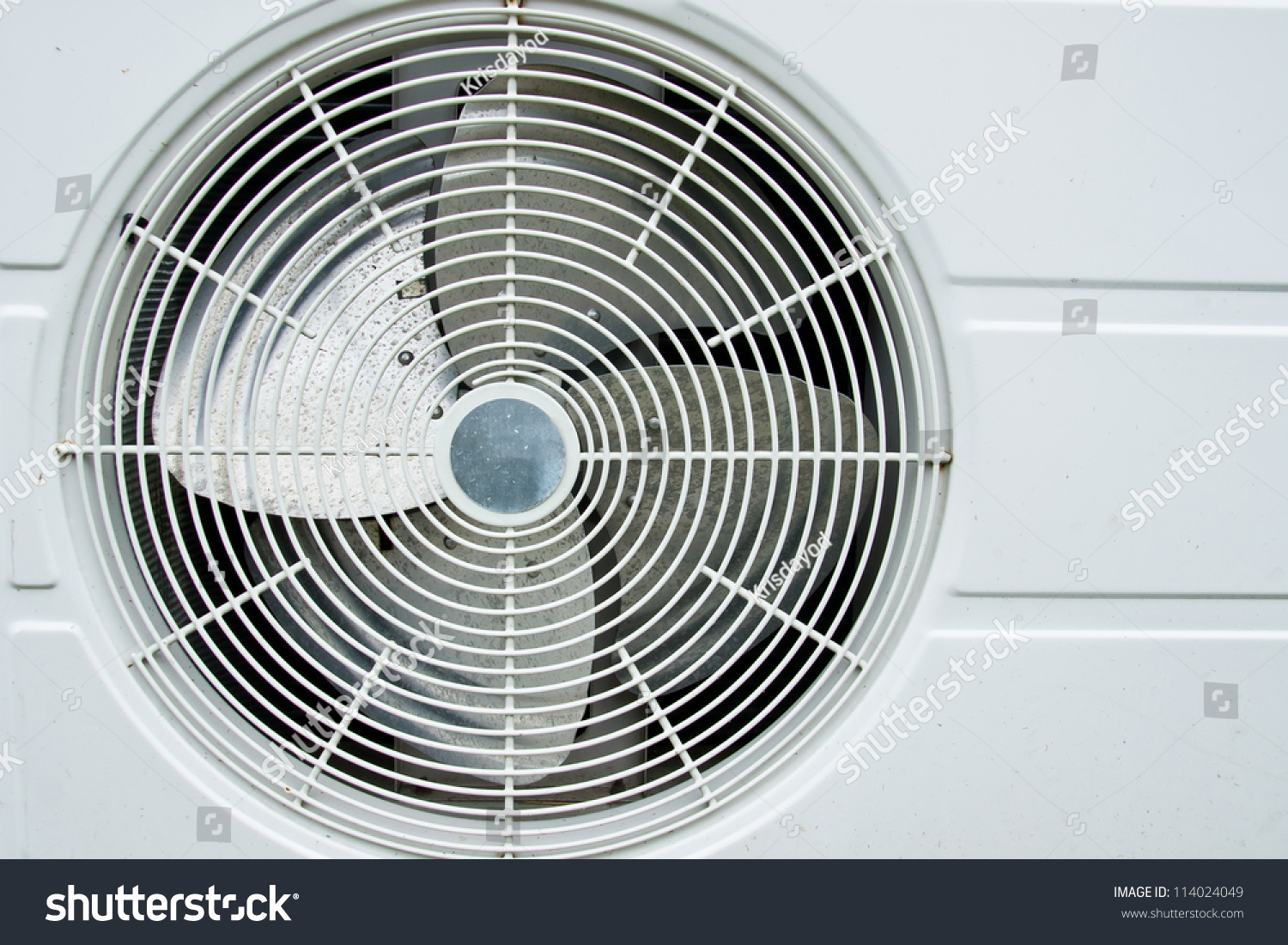 #596A72 Air Conditioner Fan On White Background Stock Photo  Best 11913 Fan With Air Conditioning photos with 1500x1101 px on helpvideos.info - Air Conditioners, Air Coolers and more