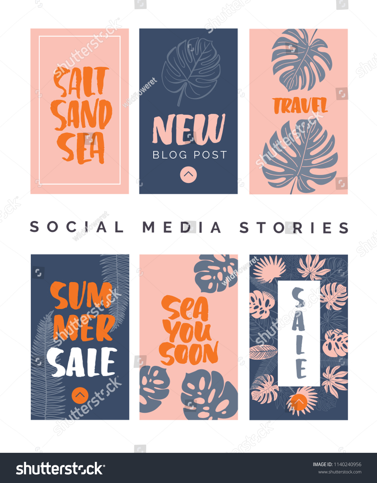 Social Media Story Templates Small Businesses Stock Vector Royalty