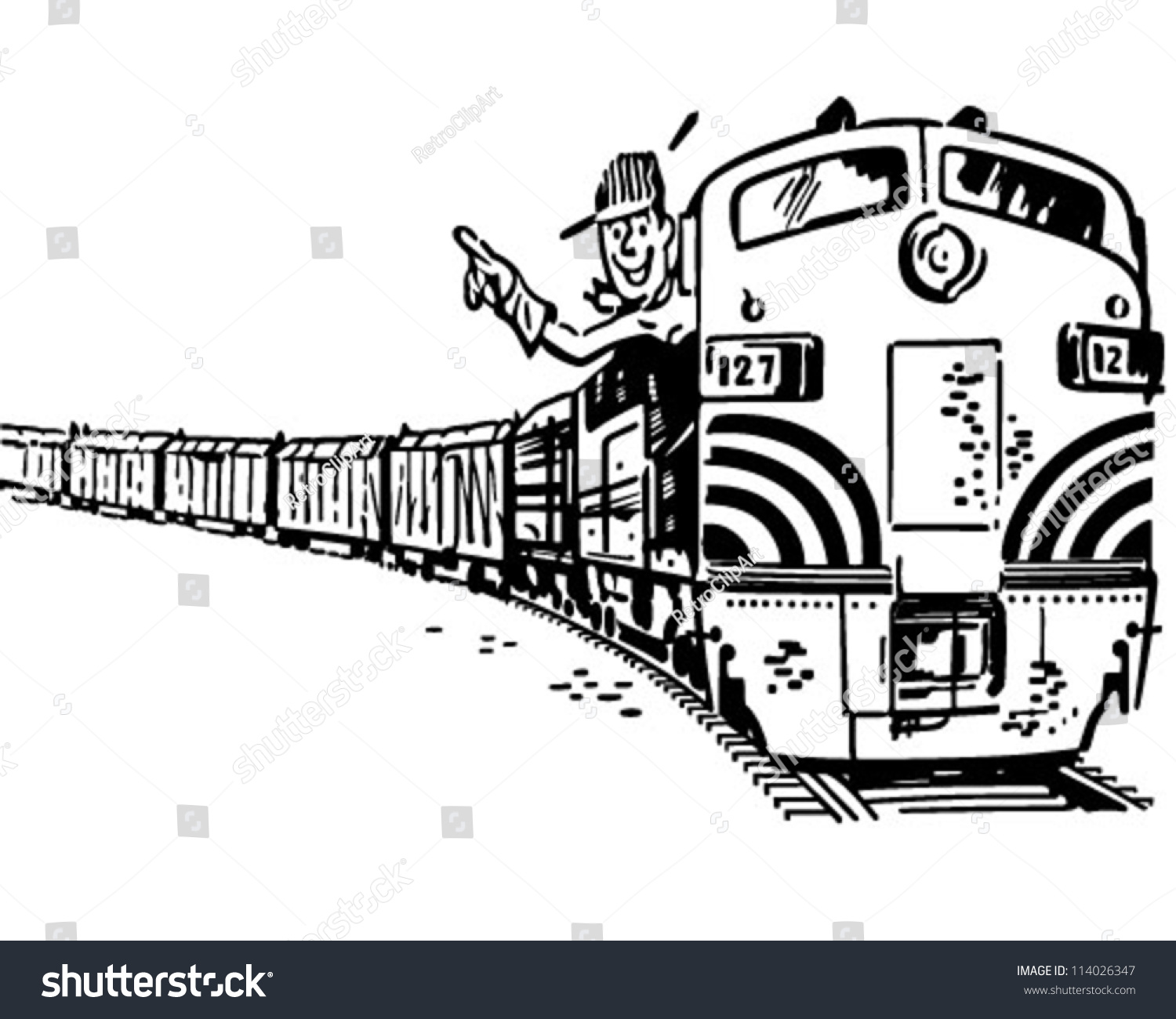 electric train clipart black and white - photo #36