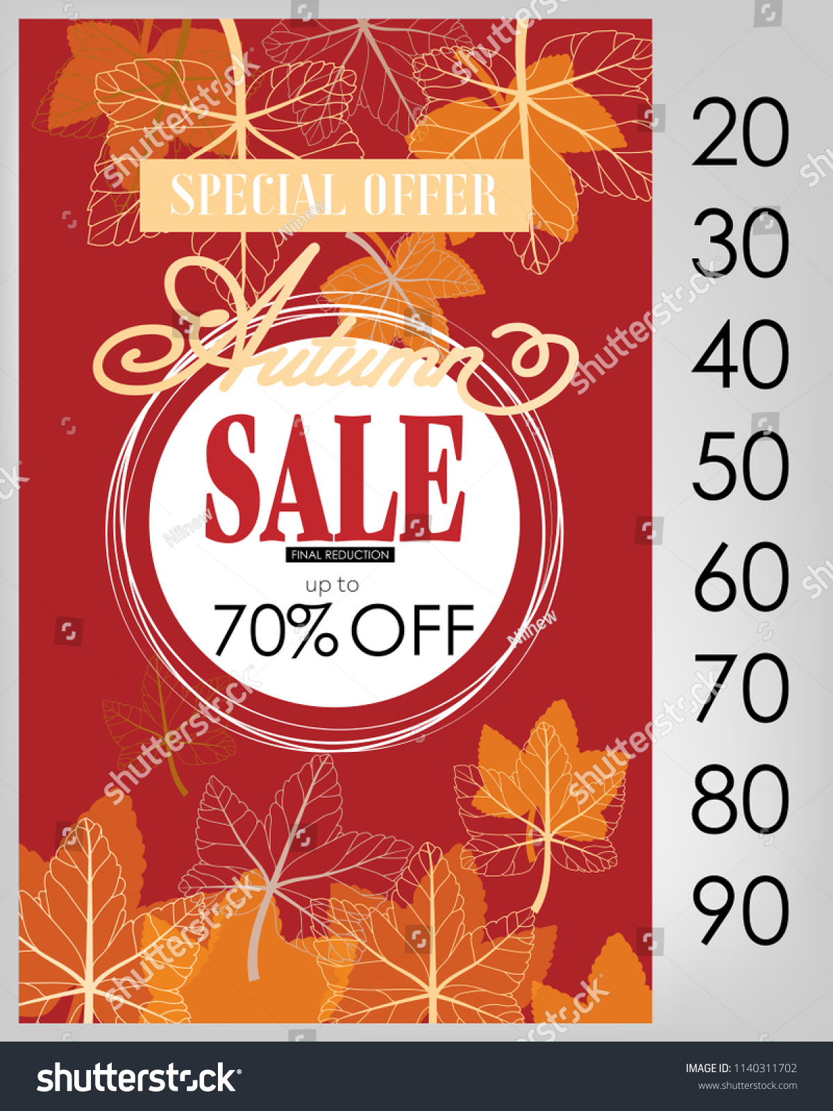 f2200a8afca autumn sale flyer template lettering fall stock vector royalty free .