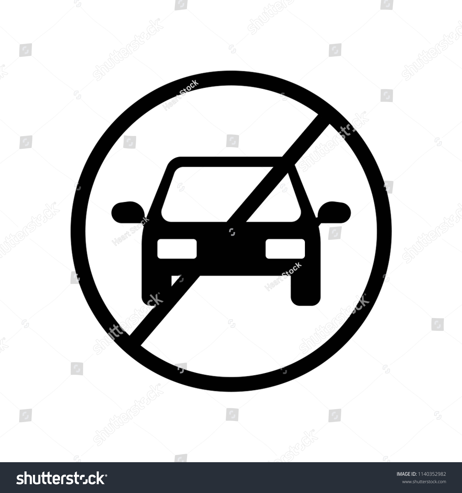 Stop Car Icon Vector Icon Simple Stock Vector Royalty Free