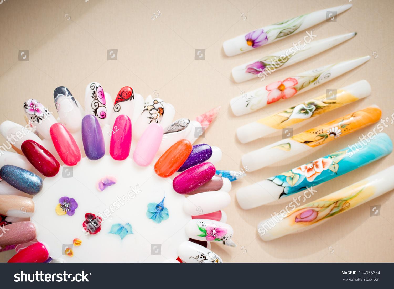 Nail Samples Big Collection Finger Nails Stock Photo (Royalty Free ...