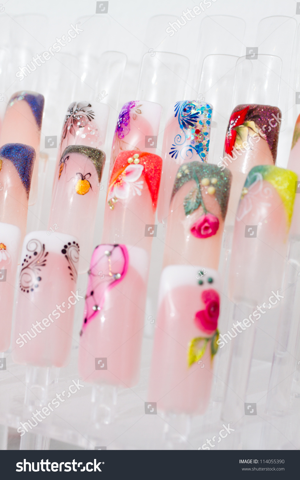 Nail Samples, Big Collection Of Finger Nails In Various