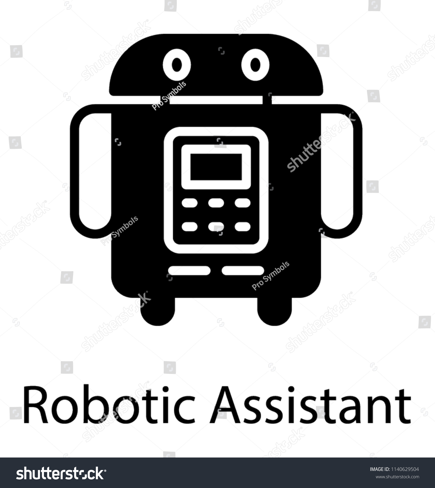 Cartoon Personal Robot Vector Icon Graphic Stock Vector