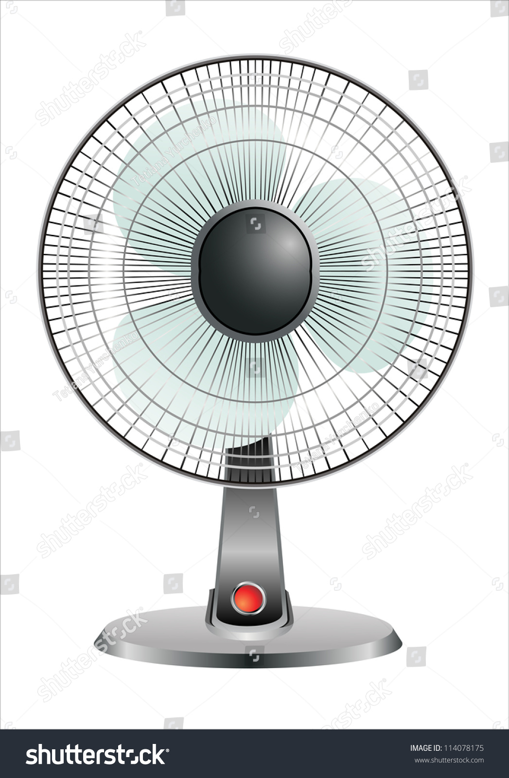 Electric Fan Front White Background Stock Vector Royalty Free In Of