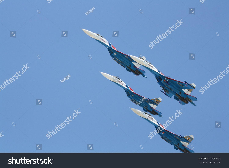 Gelendzhik Russia  city photos gallery : GELENDZHIK, RUSSIA SEPTEMBER 9: Russkie Vitiasy Russian Knights ...