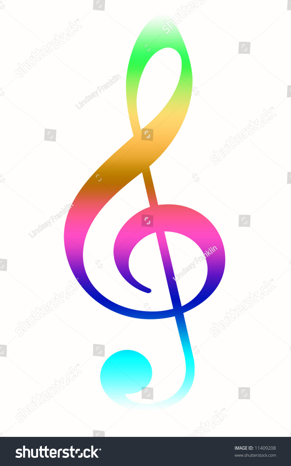 Rainbow Treble Clef Stock Illustration 11409208 Shutterstock