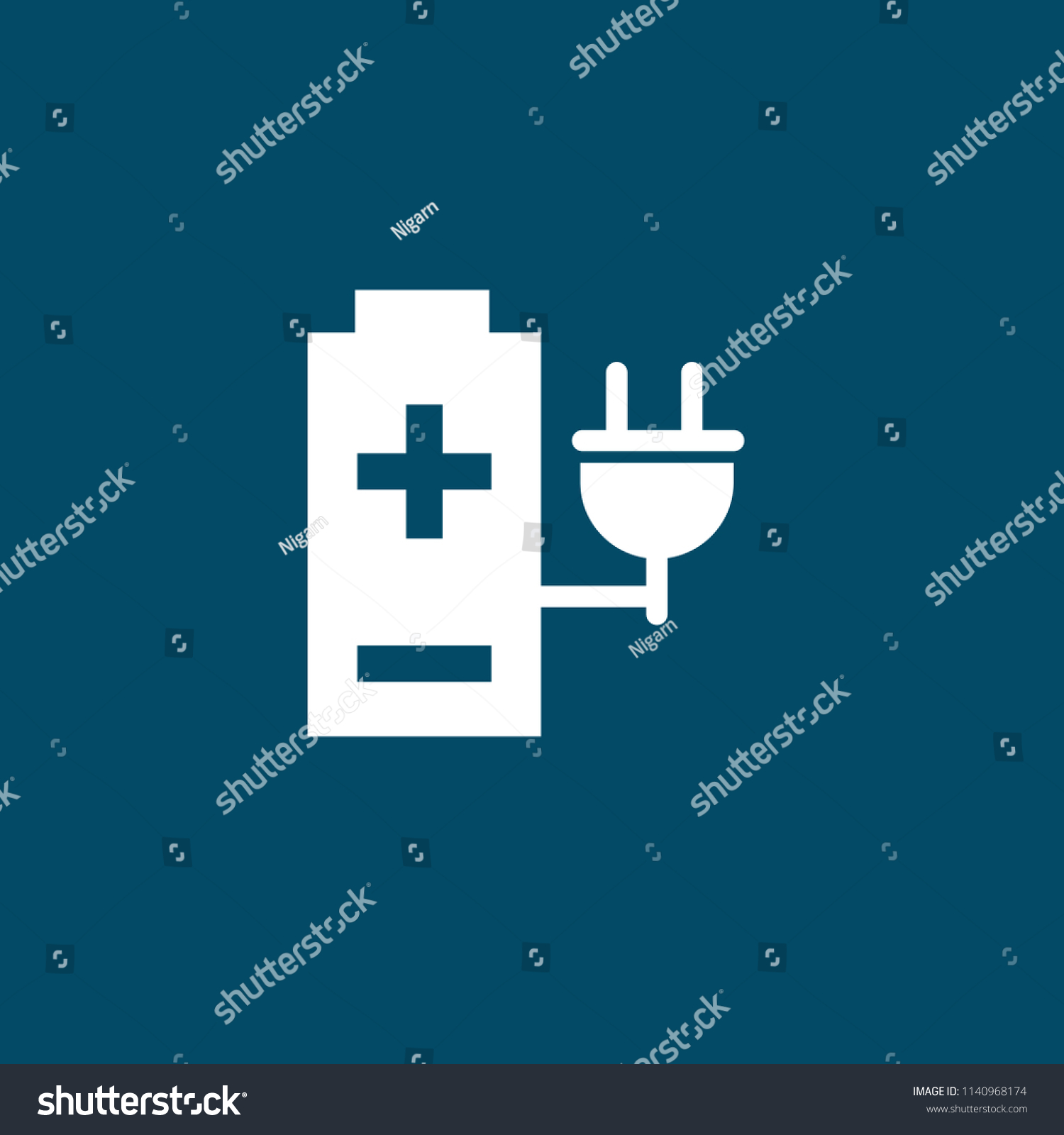 Accumulator Energy Icon Battery Electricity Electric Stock Vector