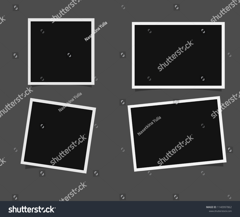 Templates Photo Polaroid Frame Vector Stock Vector Royalty Free