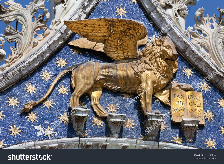 Lion St Mark Symbol Imperial Venice Stock Photo Edit Now 114104866