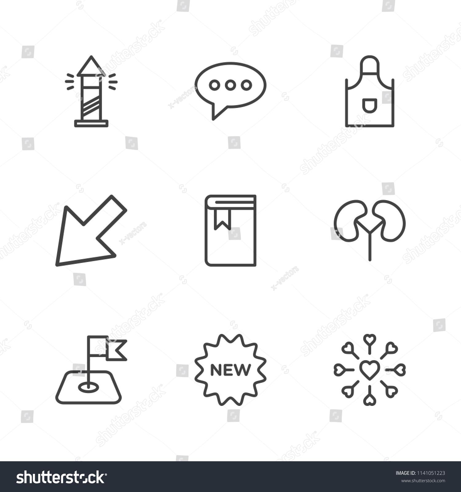 Modern Simple Vector Icon Set Contains Stock Vector 1141051223 ...